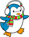 Holiday Penguin Vector Stock Photo
