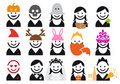 Holiday people icon set, vector Royalty Free Stock Photo
