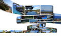 Holiday photos large amount of printed summer vacation Royalty Free Stock Images