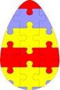 Holiday puzzle egg 03 Stock Image