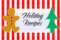 Holiday Recipe Card Royalty Free Stock Photos