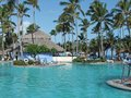 Holiday resort with pool big at the dominican republic a island of hispanola wich is a part of the greater antilles archipelago in Stock Photography