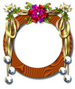 Holiday ribbon-bell frame Royalty Free Stock Images