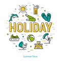 Holiday - round linear concept