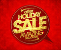 After holiday sale, amazing discounts speech bubble,