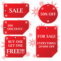 Holiday sale stickers Royalty Free Stock Images