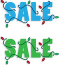 Holiday Sale Text Royalty Free Stock Image