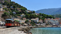 Holiday scenery port de soller seasonal resort mallorca spain Stock Image