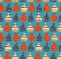 Holiday seamless pattern with sacks of gifts template for cartoons crafts surface textures web pages backgrounds christmas Royalty Free Stock Images