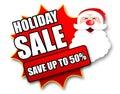 Holiday Season Promotional Sticker Royalty Free Stock Photo