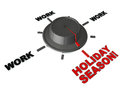 Holiday season time is near switch tuned to the mood away from work concept of leisure and end of year Stock Image