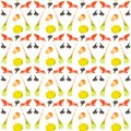 Holiday set for Halloween, pumpkin, Hat, broom, skull, bat. Watercolor illustration isolated on white background.Seamless pattern Royalty Free Stock Photo