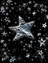 Holiday Silver Stars Royalty Free Stock Images