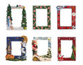Holiday and Sports Themed Picture Frames Stock Images