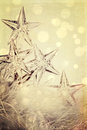 Holiday star lights with festive background Royalty Free Stock Images