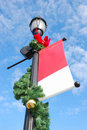 Holiday streetlight Stock Images