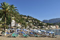 Holiday summer scenery beach port de soller mallorca spain Royalty Free Stock Images