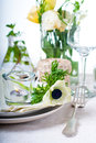 Holiday table setting Royalty Free Stock Images