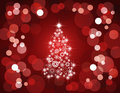 Holiday tree lights/ red Royalty Free Stock Photography