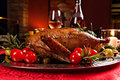 Holiday turkey christmas roast duck served on a festive table Royalty Free Stock Photography