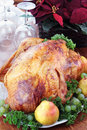 Holiday Turkey Dinner Royalty Free Stock Photography