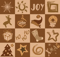 Holiday vector collage christmas and new year Royalty Free Stock Photos