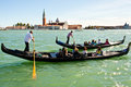 Holiday in venice people gondola italy Stock Photography