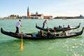 Holiday in venice people gondola italy Stock Photography