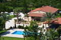 Holiday villa cyprus with a swimming pool in Stock Photo