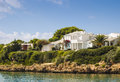 Holiday villas on a hot summers day Stock Photography