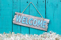 Holiday welcome sign Royalty Free Stock Photo