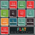 Holidays calendar flat this is file of eps format Royalty Free Stock Photography