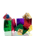 Holidays card beautiful colorful gifts Stock Photo