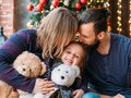 Holidays family leisure loving parents daughter Royalty Free Stock Photo