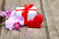 Holidays Gift And Red Heart
