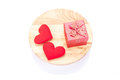 Holidays Gift And Red Hearts O...
