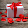 Holidays Gift And Red Hearts