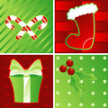 Holidays in Green & Red Royalty Free Stock Photography