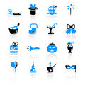 Holidays icons Royalty Free Stock Photo