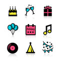 Holidays icons set Royalty Free Stock Photo