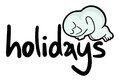 Holidays label creative design of message Royalty Free Stock Photos