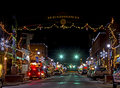 Holidays Lights Redmond Oregon Royalty Free Stock Image
