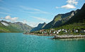 Holidays in norway beautiful fjord northern Royalty Free Stock Photo
