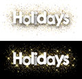 Holidays paper banners.