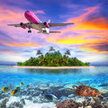 Holidays on the tropical island of maldives Royalty Free Stock Photos