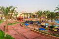 Holidays in tropical resort of Egypt Stock Photography