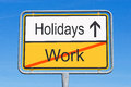 Holidays Instead Of Work