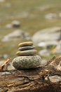 Holistic balancing stones in nature switzerland Stock Photography