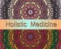 Holistic medicine design with mandalas Royalty Free Stock Image