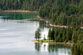 Holland lake montana usa september scenic view of lake h in on unidentified person Stock Photography